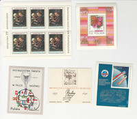 Poland, Postage Stamp, #2219a, 2273, B134 Mint NH, B109, B139 Used Sheets
