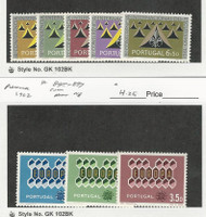 Portugal, Postage Stamp, #885-890 Mint LH, 895-897 Mint NH, 1962 Europa