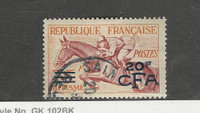 Reunion, French, Postage Stamp, #300 Used, 1954 Horse Racing