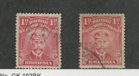 Rhodesia, Postage Stamp, #120, 120a Used, 1913