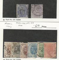 Romania, Postage Stamp, #102, 102a, 117-120, 122, 124 Used, 1891-93