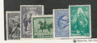 Romania, Postage Stamp, #389, 391, 392, 394-395 Mint Hinged, 1931