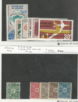 Senegal, Postage Stamp, #C42-7, J13-16 Mint Hinged, J12 Used, 1914-66
