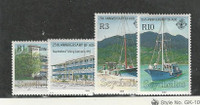 Seychelles, Postage Stamp, #692-695 Mint Hinged, 1989 Sailboat