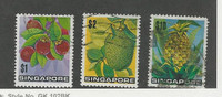 Singapore, Postage Stamp, #198-199, 201 Used, 1973 Fruit, Pineapple