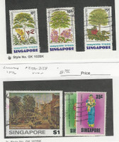 Singapore, Postage Stamp, #243, 245-246, 256-258 Used, 1976 Tree