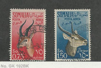 Somalia - Italian, Postage Stamp, #C43, C45 Used, 1955 Animal