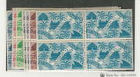 Somali Coast, Postage Stamp, #224-230 Mint NH Blocks, 1943