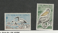 Somali Coast, Postage Stamp, #285-286 Mint LH, 1960 Birds