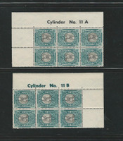 South Africa , Postage Stamp, #113a Cylinder Blocks, Control Blocks, Hinged