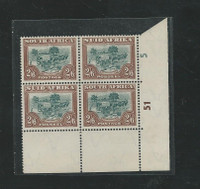 South Africa , Postage Stamp, #120 Cylinder Block Mint NH