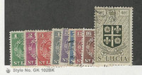 St. Lucia, Postage Stamp, #135//145 Used, 1949