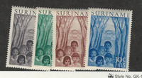 Suriname, Postage Stamp, #B58-B61 Mint NH, 1954 Children
