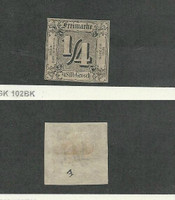 Thurn & Taxis, Germany, Postage Stamp, #15 Mint Hinged, 1863