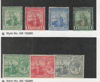 Trinidad & Tobago, Postage Stamp, #12-13, 16, 9, 21, 23, 24 Mint Hinged, 1914-22