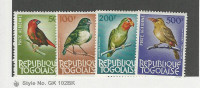 Togo, Postage Stamp, #C36-C38, C40 Mint Hinged, 1964 Birds