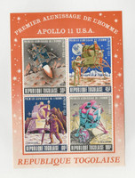 Togo, Postage Stamp, #C108a Sheet Mint NH, 1969 Space