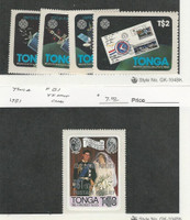Tonga, Postage Stamp, #545-548, B1 Mint NH, 1981-83 Princess Diana, Space