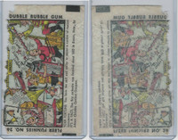 R53 Fleer, Funnies Wrappers, 1940's, #262 Saturday Concert, Music