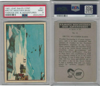 1961 Leaf, Famous Discoveries, #41 Arctic Weather Base, PSA 9 Mint