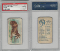 E33 Philadelphia Caramel, Dogs, 1911, Bloodhound, PSA 2 Good