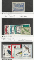 Uruguay, Postage Stamp, #C113, C203-6, C247-51 Mint NH & LH, 1945-62 Bird