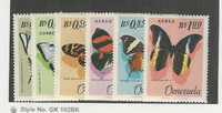 Venezuela, Postage Stamp, #889-891, C915-C917 Mint NH, 1966 Butterfly