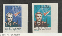 Vietnam North, Postage Stamp, #174a-175a Imperf Mint NH, 1961 Space