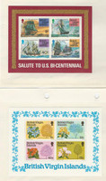 Virgin Islands, Postage Stamp, #312a, 341a Mint NH Sheets, 1975-78 Ship