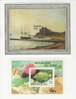 Zaire, Postage Stamp, #981A, 970 Mint NH, 1980 Ship, Fish (p)