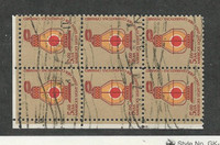 United States, Postage Stamp, #1612 Used Block of Six, 1975