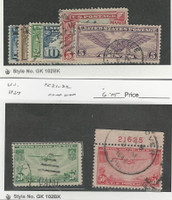 United States, Postage Stamp, #C7-C12, C21-C22 Used, 1926-37 Airplane