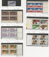 United States, Postage Stamp, #C70, C81, C84, C89, C108b, C114 Blocks Mint NH