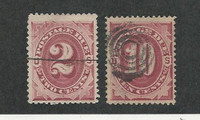 United States, Postage Stamp, #J23, J26 Used, 1891