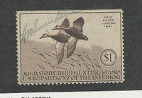 United States, Postage Stamp, #RW7 Used, 1940 Duck Hunting Permit