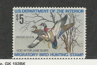United States, Postage Stamp, #RW41 Mint LH, 1974 Duck Hunting Permit
