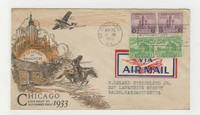 United States, Postage Stamp, #728-729 First Day Cover, 1933 Chicago