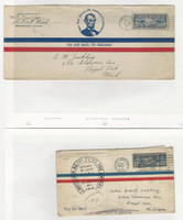 United States, Postage Stamp, #C7 Two Covers, Lindbergh, Airmail, 1928