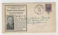 United States, Postage Stamp, # Cover Roosevelt Inauguration 1933, Hyde Park