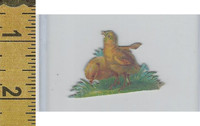 Victorian Card, 1890's, Animals Diecut, Chicken, Chicks (A20)