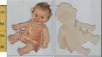 Vic Card From Book, 1950's, Children, Paper Doll, Baby (A39)
