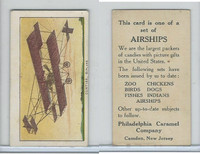 E40 Philadelphia Caramel, Airships, 1911, Curtiss - Biplane