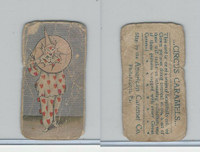 E43 American Caramel, Circus, 1911, Clown with Hoop on Head