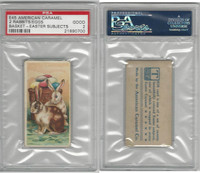 E45 American Caramel, Easter Subjects, 1920's, 2 Rabbits Eggs Basket, PSA 2 Good