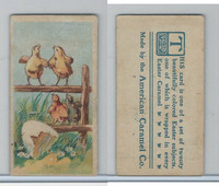 E45 American Caramel, Easter Subjects, 1920's, 4 Chicks On Fence