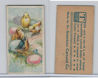 E45 American Caramel, Easter Subjects, 1920's, 4 Chicks 5 Eggs
