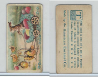 E45 American Caramel, Easter Subjects, 1920's, Chick Drawn Wagon Rabbit