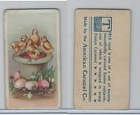 E45 American Caramel, Easter Subjects, 1920's, 4 Chicks on Top Hat