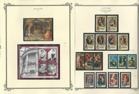 Aitutaki Collection 1974 to 2015 on 8 Scott Specialty Pages, Mint Sets