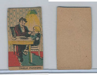 W539 Strip Card, Charlie Chaplin, 1920's, Table Manners